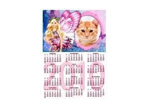 Moldura - Calendario Barbie