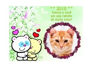 Moldura - Feliz 2010   Amor