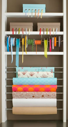 Gift Wrap Bookcase