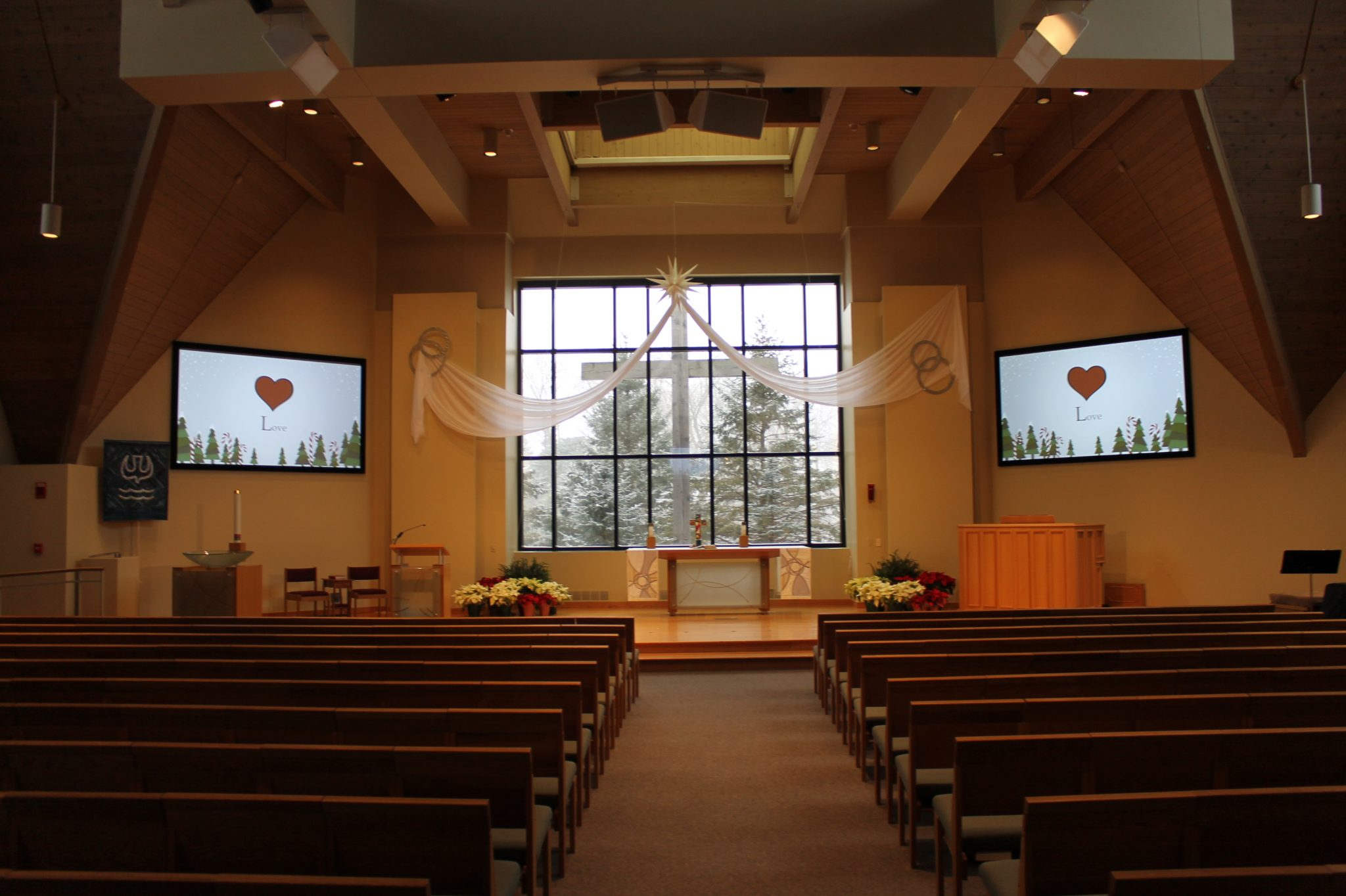 Trinity Lutheran Slate Projection Screens