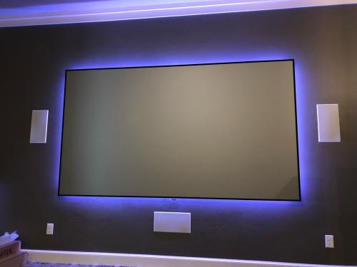 120in Zero Edge Pro Black Diamond Integrated AV Automation and Security