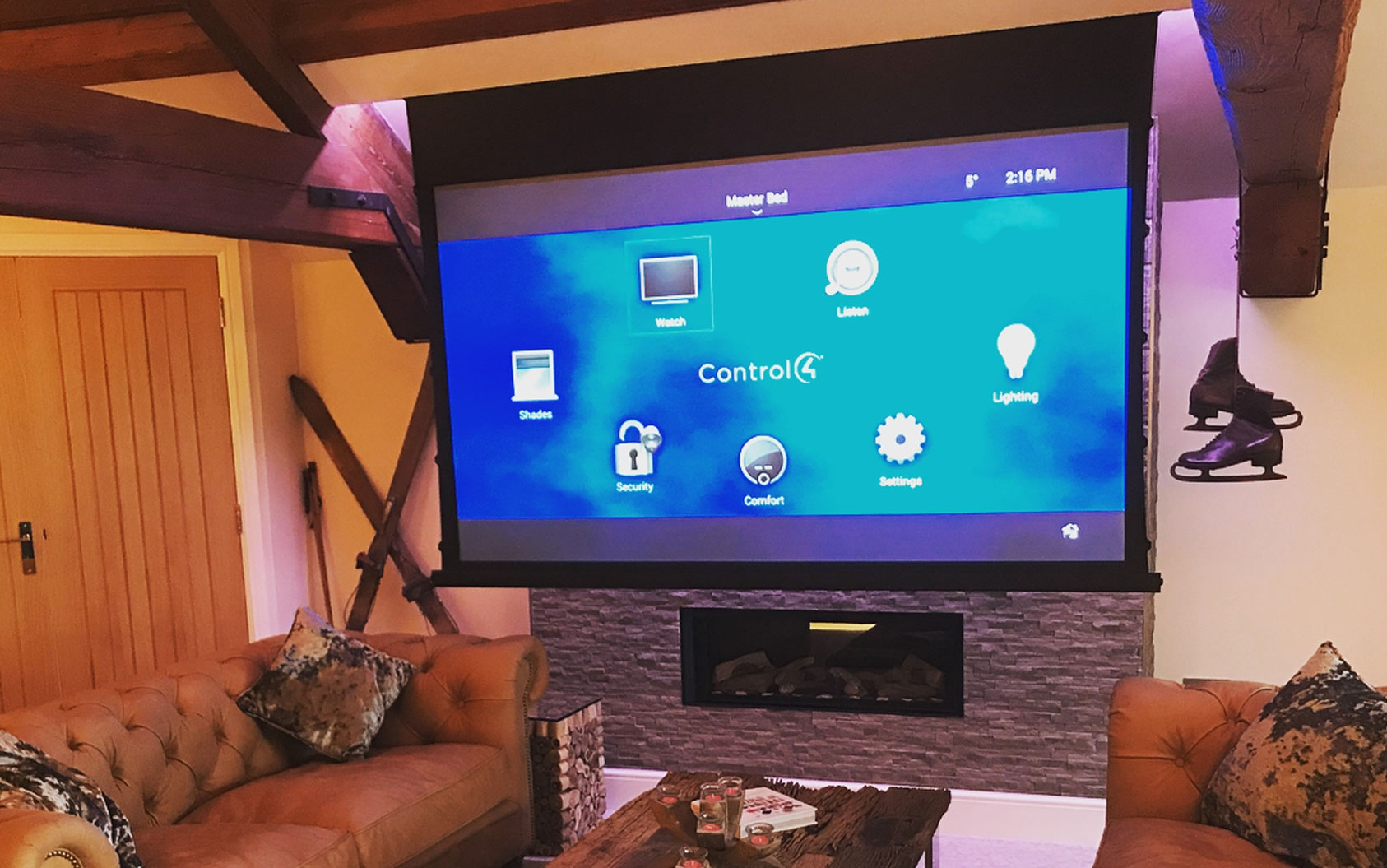 In Home Media - 110in 5 Motorized Slate