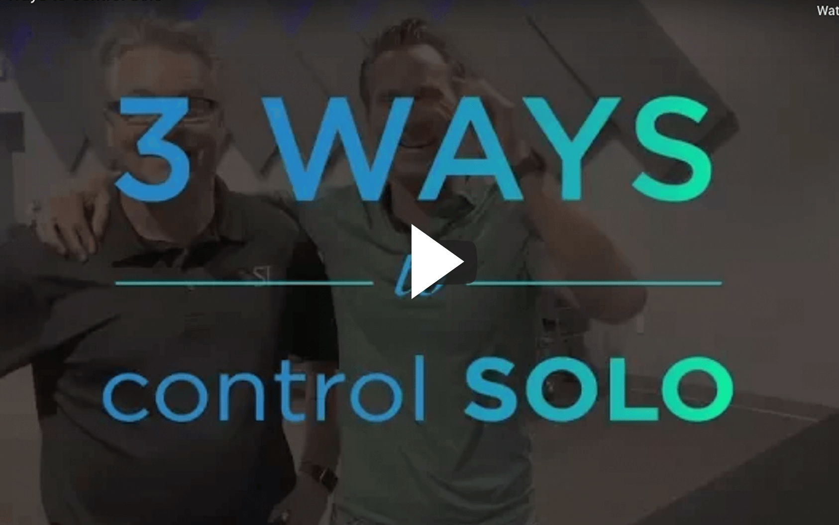 3 Ways to Control Solo