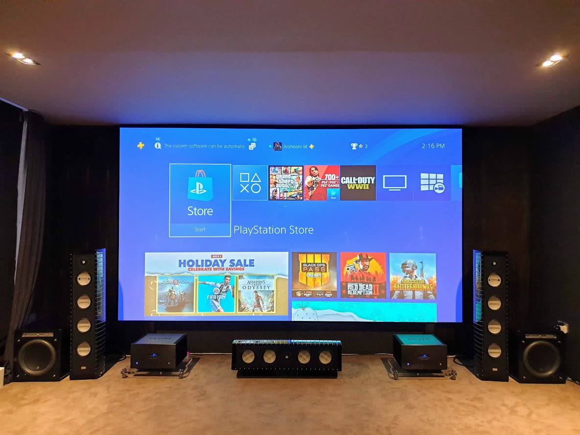 170-inch Zero Edge Pro Gaming Theater - Sound Decisions