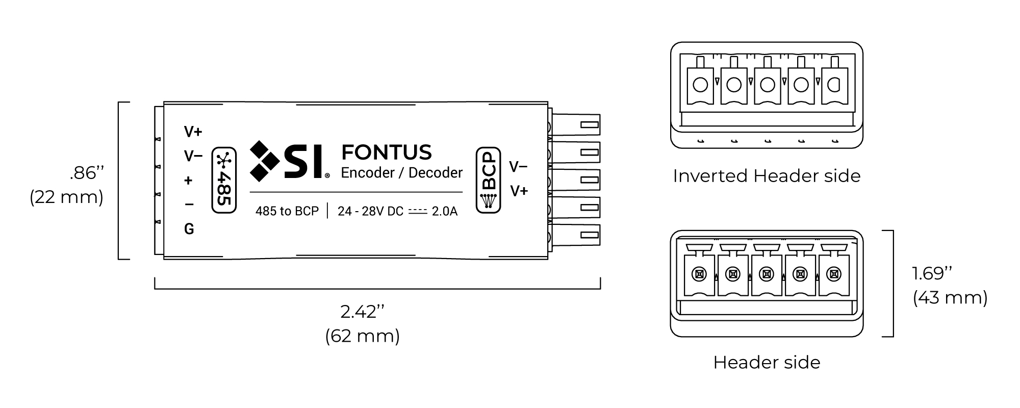 Fontus spec drawing
