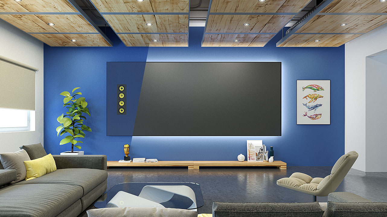 Slate AT Acoustically Transparent Projection Screen