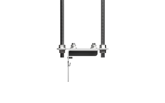 Solo Suspended Ceiling Brackets Side