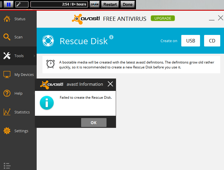 why is avast taking up so much disk