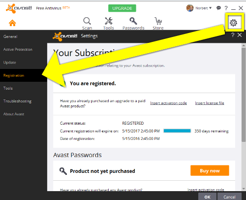 free activation key for avast 2018