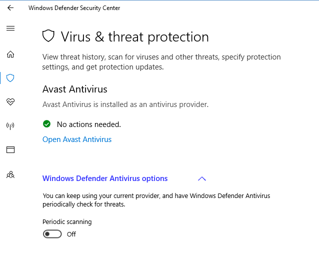 whats better windows defender or avast