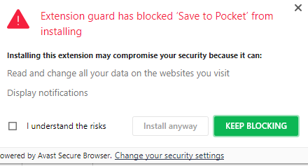 avast security browser extension