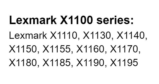 driver lexmark x1100 series