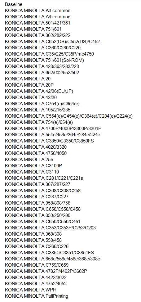 KONICA MINOLTA PCL6 UNIVERSAL PRINT DRIVERS FOR WINDOWS 7