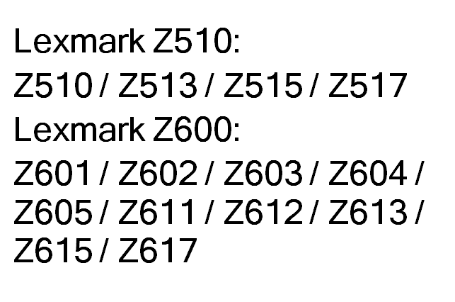 Superwarehouse lexmark z611, lexmark 18k6572.