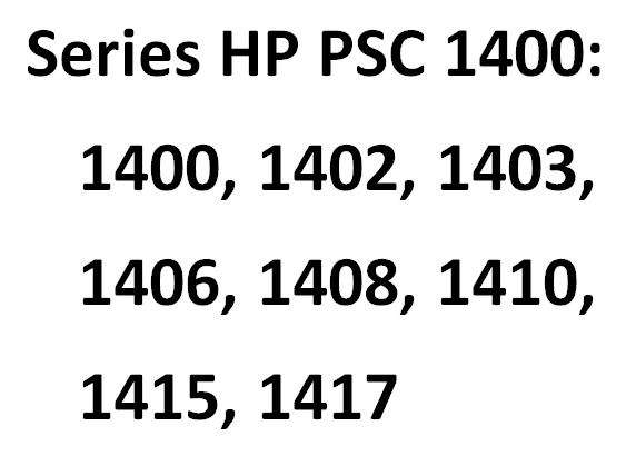Driver for Printer HP PSC 1310 / 1400 / 1510 series - [Download]