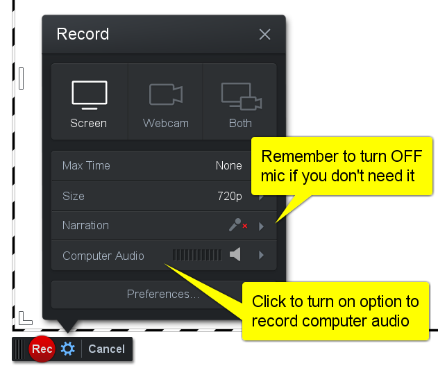 How can I record the audio from my computer (Windows) ? – Screencast