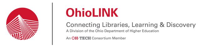 OhioLINK banner