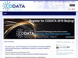 codata.org on an iPad