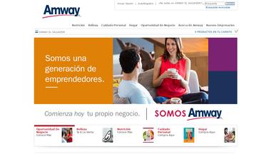 Schermafbeelding voor amway.com.sv