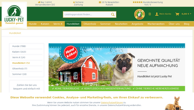 Capture d'écran de schwedische-hundenahrung.de
