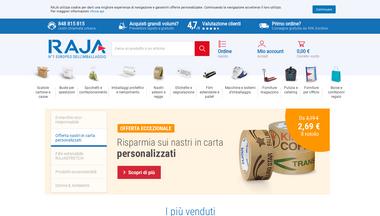 rajapack.it Screenshot