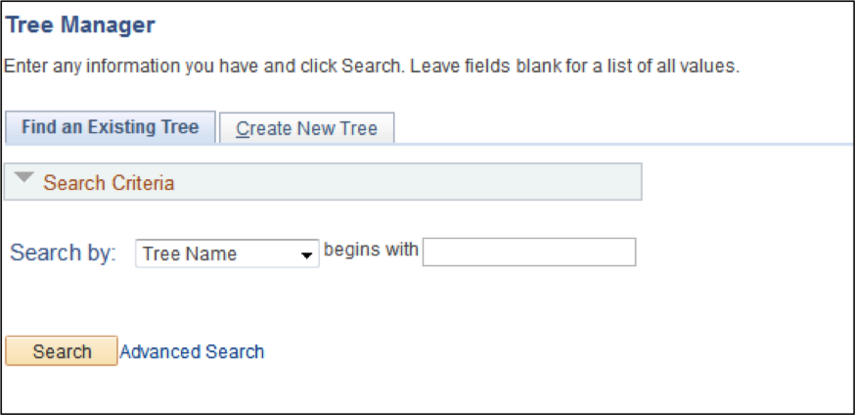 Tree Manager Page