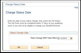 Change Status Date