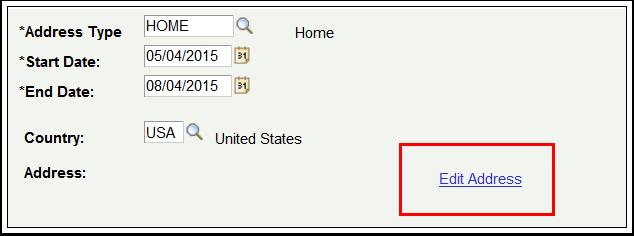 Edit Address link