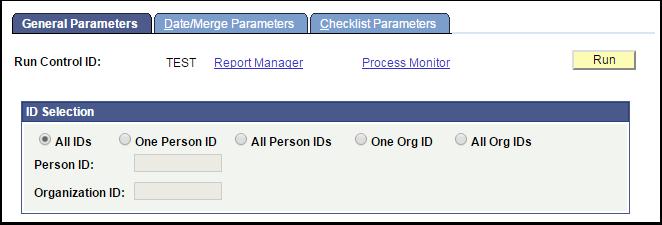 General Parameters tab