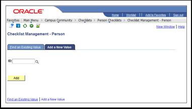 Checklist Management Person