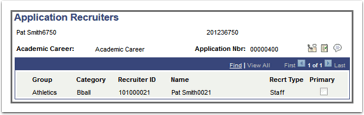 Application Recruiters page