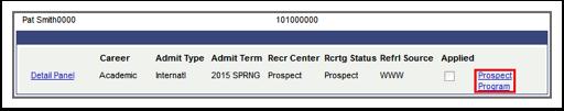 Prospect Program link