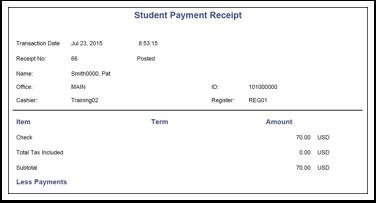 Student Payment Receipt