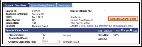 Dynamic Class Data tab