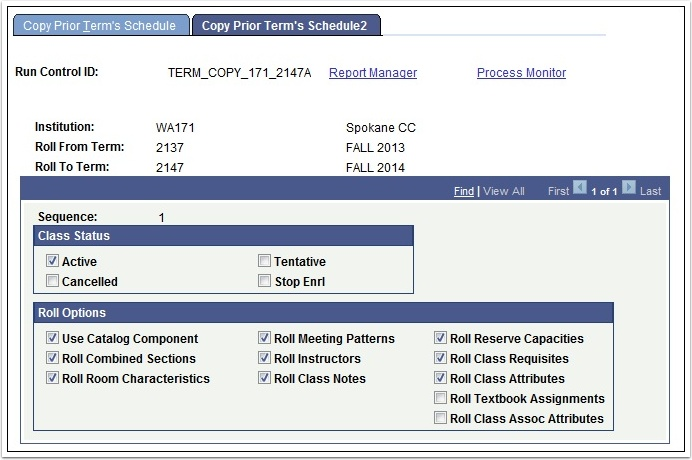 Copy Prior Term's Schedule 2 tab
