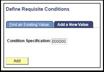 Define Requisite Conditions