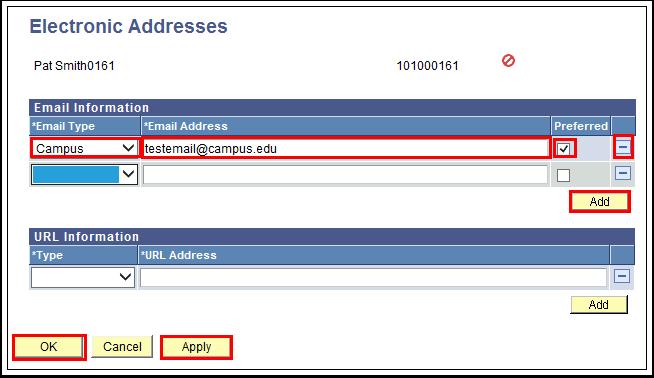 Electronic Addresses