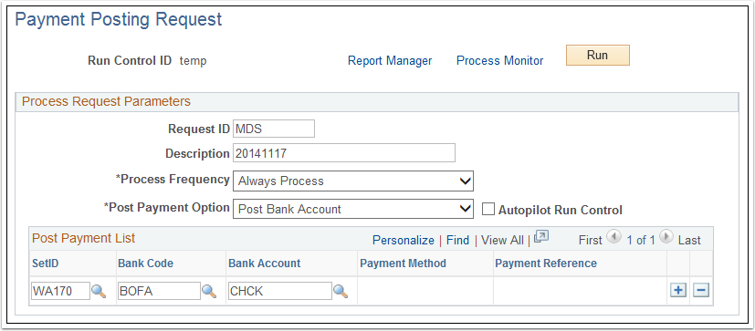 Payment Posting Request