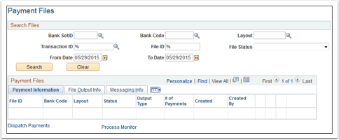 Payment Files