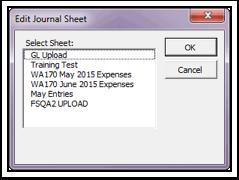 Edit Journal Sheet