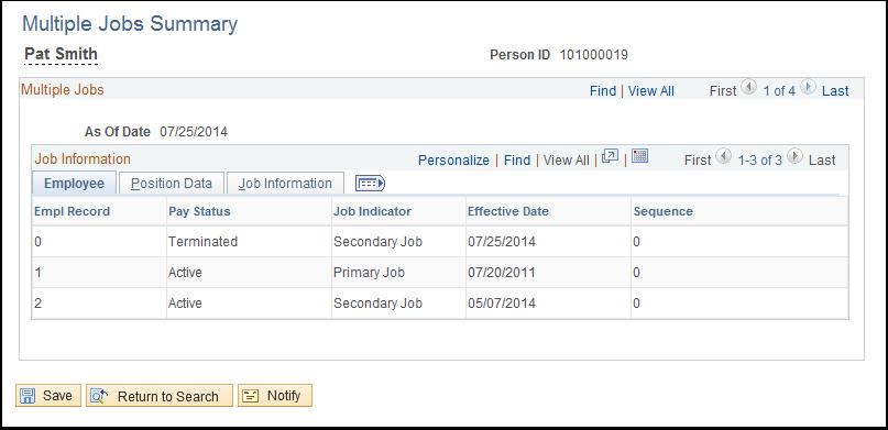 Multiple Jobs Summary