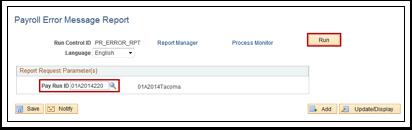 Payroll Error Message Report