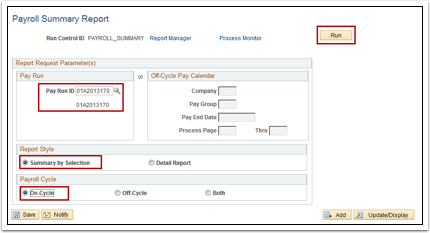 Payroll Summary Report