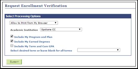 Request Enrollment Verification
