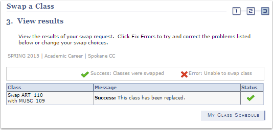 Swap a Class View Results