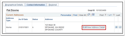 Contact Information tab