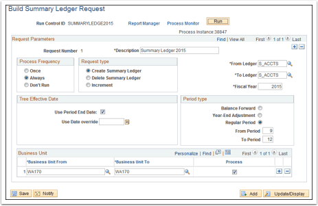 Build Summary Ledger Request