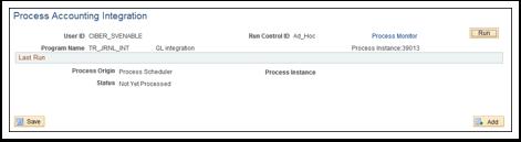 Process Accounting Integration