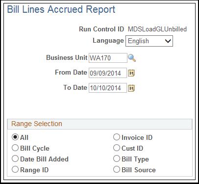 Bill Lines Accrued Report