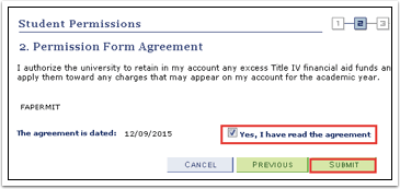 Permission Form Agreement